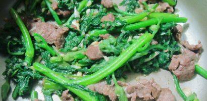 Cách hay làm món rau bí xào thịt bò cực ngon