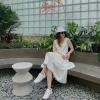 Kiểu giày nào mix với váy trắng đẹp?